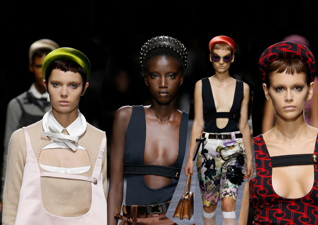 Prada Models Wore Puffy Statement Headbands And We ll Take At Least ... a17b24f7c9c